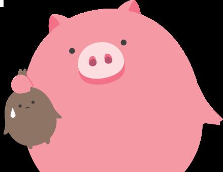 미팩토리 돼지 마스코트